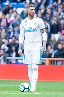 Real Madrid Sergio Ramos during La Liga match between Real Madrid and Atletico de Madrid at Santiago Bernabeu Stadium in Madrid, Spain. April 08, 2018. (ALTERPHOTOS/Borja B.Hojas) /NortePhoto NORTEPHOTOMEXICO