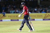 Alastair Cook of Essex leaves the field having been dismissed for 11 during Essex Eagles vs Yorkshire Vikings, Royal London One-Day Cup Play-Off Cricket at The Cloudfm County Ground on 14th June 2018