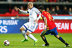Spain's Diego Costa (r) and Israel's Tal Ben Chaim during FIFA World Cup 2018 Qualifying Round match. March 24,2017.(ALTERPHOTOS/Acero)