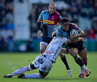Harlequins' Francis Saili in action during todays match<br /> <br /> Photographer Bob Bradford/CameraSport<br /> <br /> Gallagher Premiership - Harlequins v Gloucester Rugby - Sunday 10th March 2019 - Twickenham Stoop - London<br /> <br /> World Copyright &copy; 2019 CameraSport. All rights reserved. 43 Linden Ave. Countesthorpe. Leicester. England. LE8 5PG - Tel: +44 (0) 116 277 4147 - admin@camerasport.com - www.camerasport.com