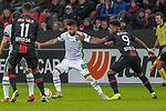 29.11.2018, BayArena, Leverkusen, Europaleque, Vorrunde, GER, UEFA EL, Bayer 04 Leverkusen (GER) vs. Ludogorez Rasgrad (BUL),<br />  <br /> DFL regulations prohibit any use of photographs as image sequences and/or quasi-video<br /> <br /> im Bild / picture shows: <br /> Wanderson (Ludogorez Rasgrad #88), im Zweikampf gegen  Leon Bailey (Leverkusen #9), <br /> <br /> Foto &copy; nordphoto / Meuter<br /> <br /> <br /> <br /> Foto &copy; nordphoto / Meuter