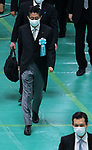 Japan's Prime Minister Shinzo Abe wearing face masks attend the memorial service for the war dead of World War II marking the 75th anniversary in Tokyo, Japan on August 15, 2020. (Photo by AFLO)