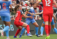 Portland, OR - Saturday April 29, 2017: Celeste Boureille, Jennifer Hoy during a regular season National Women's Soccer League (NWSL) match between the Portland Thorns FC and the Chicago Red Stars at Providence Park.