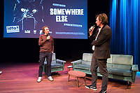 Amsterdam, 18-11-2017, IDFA International Documentary Filmfestival Amsterdam. Doclab Live 20-11 met Micha Wertheim (left) and Caspar Sonnen. Photo Nichon Glerum