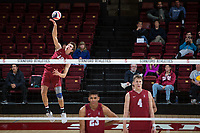 STANFORD, CA - March 3, 2018: Jacob Thoenen at Maples Pavilion. The Stanford Cardinal lost to Pepperdine, 3-0.