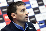 CD Leganes' coach Asier Garitano in press conference after La Liga match. April 5,2017. (ALTERPHOTOS/Acero)