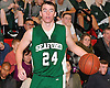 Keith McHugh #24 of Seaford surveys the court during a Nassau County varsity boys' basketball game against host Island Trees High School on Wednesday, Jan. 13, 2016. Island Trees won by a score of 63-48.
