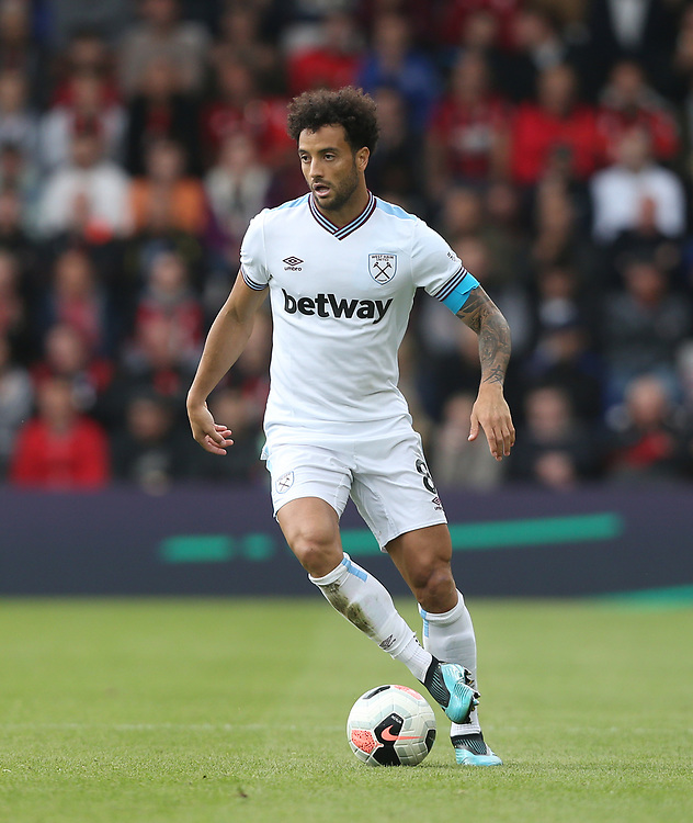 West Ham United's Felipe Anderson<br /> <br /> Photographer Rob Newell/CameraSport<br /> <br /> The Premier League - Bournemouth v West Ham United - Saturday 28th September 2019 - Vitality Stadium - Bournemouth<br /> <br /> World Copyright © 2019 CameraSport. All rights reserved. 43 Linden Ave. Countesthorpe. Leicester. England. LE8 5PG - Tel: +44 (0) 116 277 4147 - admin@camerasport.com - www.camerasport.com