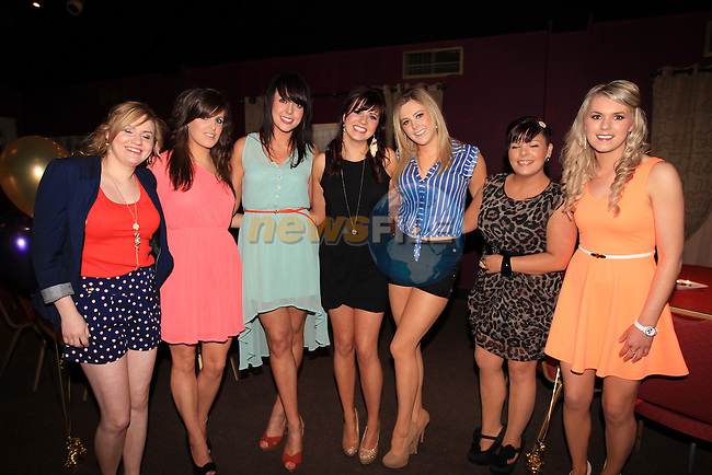 Siobhan Leddy celebrating her 21th in the Star and Crescent..Michelle Leddy, Audrey Boyle, Suzanne Murphy, Siobhan Leddy, Ciara Boylan, Emma McGee and Laura Campbell..Picture Fran Caffrey www.newsfile.ie..