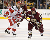 Bryan Ewing (Anthony Aiello) Pat Gannon - The Boston University Terriers defeated the Boston College Eagles 2-1 in overtime in the March 18, 2006 Hockey East Final at the TD Banknorth Garden in Boston, MA.
