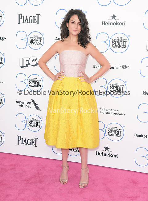 Jenny Slate attends 2015 Film Independent Spirit Awards held at Santa Monica Beach in Santa Monica, California on February 21,2015                                                                               © 2015Hollywood Press Agency