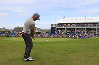 Andy Sullivan (ENG) chips onto the 18th green during Sunday's Final Round of the Dubai Duty Free Irish Open 2019, held at Lahinch Golf Club, Lahinch, Ireland. 7th July 2019.<br /> Picture: Eoin Clarke | Golffile<br /> <br /> <br /> All photos usage must carry mandatory copyright credit (© Golffile | Eoin Clarke)
