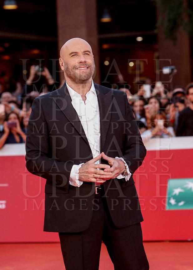 Actor John Travolta poses on the red carpet at the international Rome Film Festival at Rome's Auditorium, October 22, 2019.<br /> UPDATE IMAGES PRESS/Riccardo De Luca