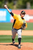 Pittsburgh Pirates pitcher Ethan Hollingsworth #49 during a Spring Training game against the New York Yankees at Legends Field on March 28, 2013 in Tampa, Florida.  (Mike Janes/Four Seam Images)