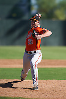 San Francisco Giants pitcher Heath Slatton (72) during an instructional league game against the Kansas City Royals on October 23, 2015 at the Papago Baseball Facility in Phoenix, Arizona.  (Mike Janes/Four Seam Images)