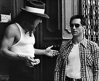 Taxi Driver (1976)<br /> Robert De Niro &amp; Harvey Keitel<br /> *Filmstill - Editorial Use Only*<br /> CAP/KFS<br /> Image supplied by Capital Pictures