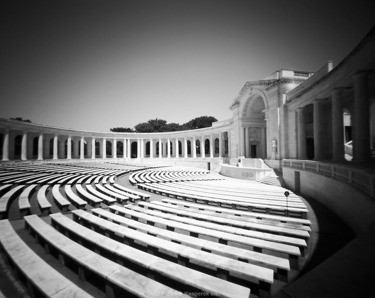 The amphitheater at the Tomb of the Unknown Soldier at Arlington National Cemetery.