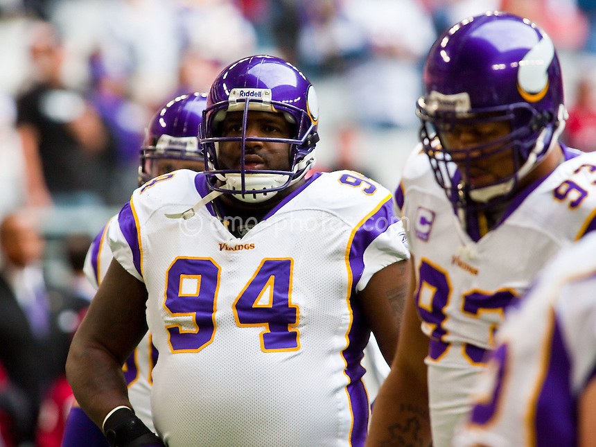 Dec 14, 2008; Glendale, AZ, USA; Minnesota Vikings defensive tackle Pat Williams (94) and defensive tackle Kevin Williams (93) prior to a game against the Arizona Cardinals at University of Phoenix Stadium.  The Vikings won the game 35-14.