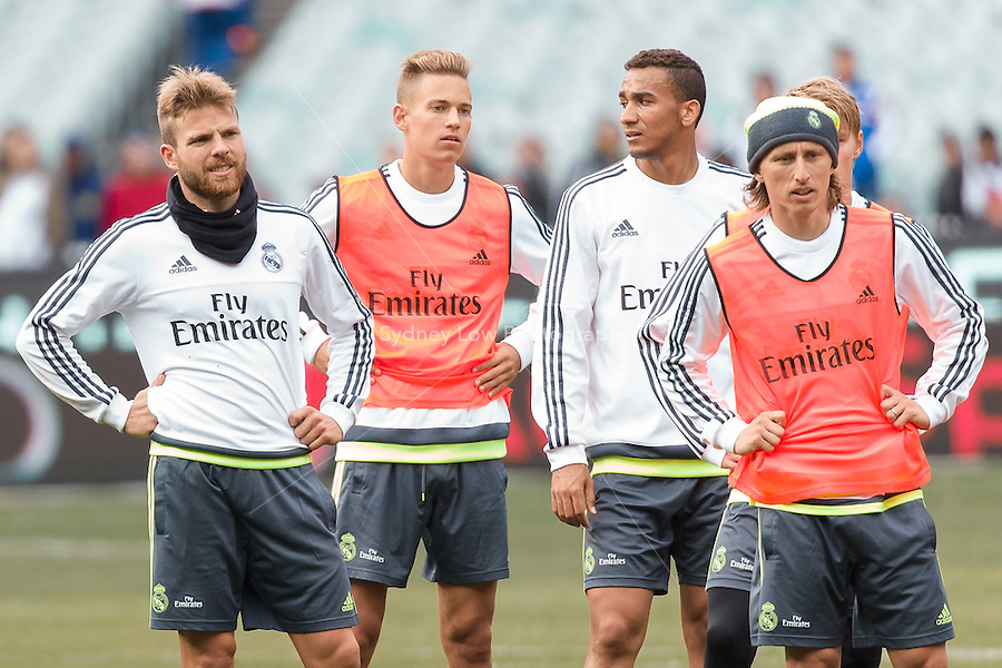 Melbourne, 17 July 2015 - Real Madrid trains at the Melbourne Cricket Ground ahead of their International Champions Cup match against AS Roma tomorrow in Melbourne, Australia. Photo Sydney Low/AsteriskImages.com
