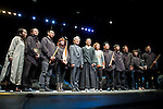 """Chinese actor Wu Hsing-Kuo and the Taiwan Ambassador in Spain, Simón Shen Yeaw Ko with the musicians during the theater play of """"King Lear"""" at Teatros del Canal in Madrid. May 27, 2016. (ALTERPHOTOS/Borja B.Hojas)"""