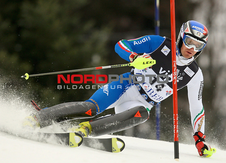 06.01.2011., Sljeme, Zagreb, Croatia - FIS Ski World Cup, Snow Queen Trophy, men slalom race, 1st run.<br /> Manfred Moelgg<br />                                                                                                    Foto:   nph / PIXSELL