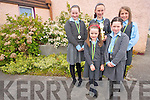 The pupils at St Clare's NS in Kenmare were presented with awards on Friday last to mark the closure of the girls National School forever. .Front L-R Lorna O'Connell, Tamara Arsenic and Mairead McCarthy. .Back L-R Denise McCarthy and Caoimhe O'Connor.