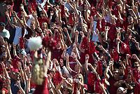 NWA Democrat-Gazette/CHARLIE KAIJO Arkansas Razorbacks fans cheer during the first half of the game between Arkansas Razorbacks and New Mexico State Aggies on Saturday, September 30, 2017 at Razorback Stadium in Fayetteville.