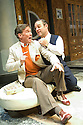 Moonlight and Magnolias by Ron Hutchinson ,directed by Sean Holmes. With Steven Pacey as Victor Flemming, Andy Nyman as David O'Selznick.Opens at The Tricycle Theatre  on 10/7/08. CREDIT Geraint Lewis