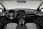 Stock photo of straight dashboard view of 2020 KIA Soul S 5 Door Hatchback Dashboard