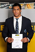Rugby Union Boys winner Michael Fatialofa from Mt Albert Grammar School.  ASB College Sport Young Sportsperson of the Year Awards held at Eden Park, Auckland, on November 11th 2010.