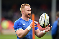 Will Hurrell of Bath Rugby looks on during the pre-match warm-up. Anglo-Welsh Cup Final, between Bath Rugby and Exeter Chiefs on March 30, 2018 at Kingsholm Stadium in Gloucester, England. Photo by: Patrick Khachfe / Onside Images