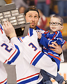 Michael Kapla (UML - 3), Lucas St. Onge (UML) The University of Massachusetts-Lowell River Hawks defeated the Boston College Eagles 4-3 to win the 2017 Hockey East tournament at TD Garden on Saturday, March 18, 2017, in Boston, Massachusetts.