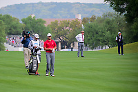 Jon Rahm (ESP) looks over his approach shot on 1 during round 6 of the World Golf Championships, Dell Technologies Match Play, Austin Country Club, Austin, Texas, USA. 3/26/2017.<br /> Picture: Golffile | Ken Murray<br /> <br /> <br /> All photo usage must carry mandatory copyright credit (&copy; Golffile | Ken Murray)