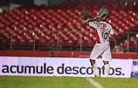 SAO PAULO, SP, 27 DEZEMBRO 2012 - JOGO DAS ESTRELAS - Violo comemora seu gol durante partida do Jogo das Estrelas no Estadio Cicero Pompeu de Toledo (Morumbi) na regiao sul da capital paulista noite desta quinta-feira, 27. (FOTO: WILLIAM VOLCOV / BRAZIL PHTOTO PRESS).
