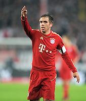 Fussball 1. Bundesliga:  Saison   2011/2012    16. Spieltag VfB Stuttgart - FC Bayern Muenchen  11.12.2011 Philipp Lahm (FC Bayern Muenchen)