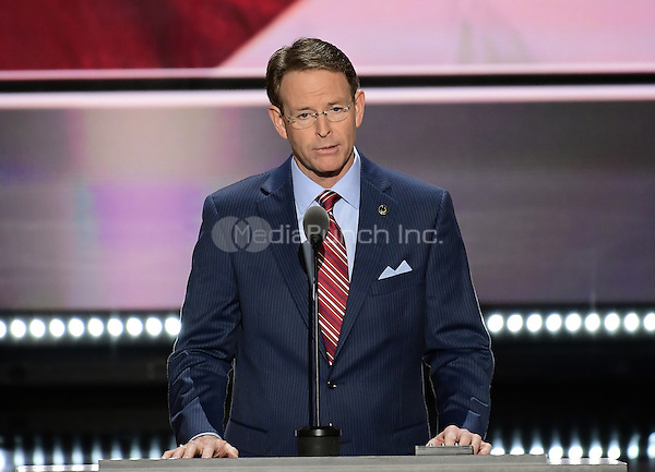 Tony Perkins makes remarks at the 2016 Republican National Convention held at the Quicken Loans Arena in Cleveland, Ohio on Thursday, July 21, 2016.<br /> Credit: Ron Sachs / CNP/MediaPunch<br /> (RESTRICTION: NO New York or New Jersey Newspapers or newspapers within a 75 mile radius of New York City)