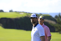 Green Bay Packers NFL quarterback Aaron Rodgers and Matthew Cain on the 6th hole at Pebble Beach Golf Links during Saturday's Round 3 of the 2017 AT&amp;T Pebble Beach Pro-Am held over 3 courses, Pebble Beach, Spyglass Hill and Monterey Penninsula Country Club, Monterey, California, USA. 11th February 2017.<br /> Picture: Eoin Clarke | Golffile<br /> <br /> <br /> All photos usage must carry mandatory copyright credit (&copy; Golffile | Eoin Clarke)