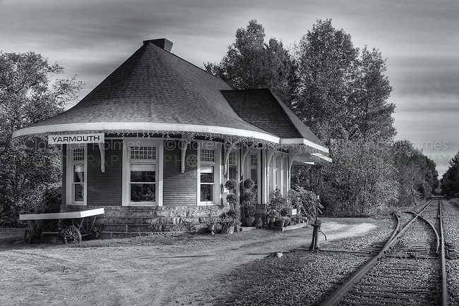 The historic Grand Trunk Railroad Station in Yarmouth, Maine was originally built in 1906.