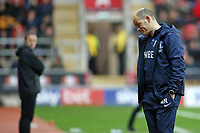Preston North End manager Alex Neil cuts a dejected figure on the sidelines<br /> <br /> Photographer David Shipman/CameraSport<br /> <br /> The EFL Sky Bet Championship - Rotherham United v Preston North End - Tuesday 1st January 2019 - New York Stadium - Rotherham<br /> <br /> World Copyright © 2019 CameraSport. All rights reserved. 43 Linden Ave. Countesthorpe. Leicester. England. LE8 5PG - Tel: +44 (0) 116 277 4147 - admin@camerasport.com - www.camerasport.com