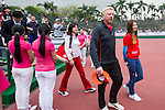 Tennis legend Boris Becker arrives at the press conference for the opening of Boris Becker Tennis Academy at Mission Hills Resort on 19 March 2016, in Shenzhen, China. Photo by Lucas Schifres / Power Sport Images