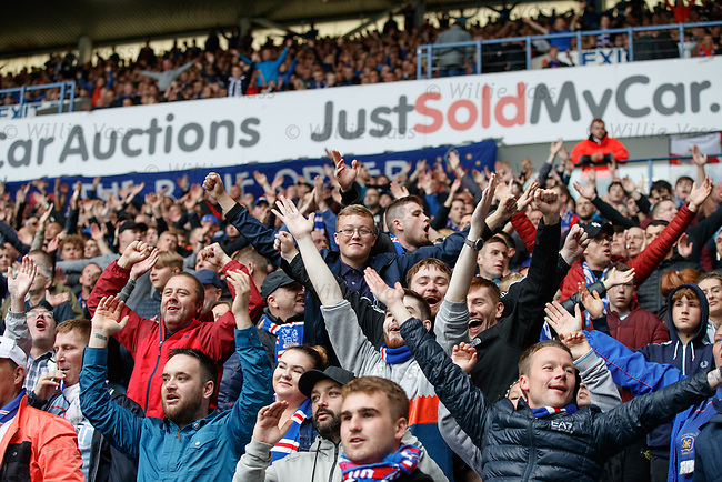 Rangers fans after goal no 2