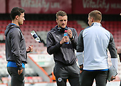 30th September 2017, Vitality Stadium, Bournemouth, England; EPL Premier League football, Bournemouth versus Leicester; Leicester's Jamie Vardy, Ben Chilwell and Marc Albrighton of Leicester take a look at The Vitality Stadium before kick off