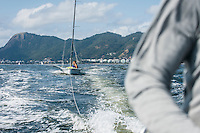 AR_07302016_RIO_HOUSTON_0168.ARW  © Amory Ross / US Sailing Team.  HOUSTON - TEXAS- USA. July 30, 2016. The US Sailing Team moves their boats and equipment from Niteroi, the training center for the past three years, across Guanabara Bay to the new Olympic sailing venue in Rio de Janeiro.