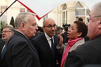 Jean-Marc Ayrault,Harlem Désir - Hommage à Henri Emmanuelli à Paris le 27/03/2017