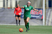 8 November 2015:  Marshall Defender/Midfielder Taylor Fleming (18) advances the ball in the first half as the University of North Texas Mean Green defeated the Marshall University Thundering Herd, 1-0, in the Conference USA championship game at University Park Stadium in Miami, Florida.