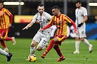 Roberto Insigne-Marcelo Brozovic <br /> Milano 13-1-2019 Stadio Giuseppe Meazza <br /> Football Italy Cup 2018/2019 Inter - Benevento <br /> Foto Image Sport  / Insidefoto