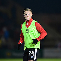 Lincoln City's Danny Rowe during the pre-match warm-up<br /> <br /> Photographer Chris Vaughan/CameraSport<br /> <br /> The EFL Sky Bet League Two - Lincoln City v Cheltenham Town - Tuesday 13th February 2018 - Sincil Bank - Lincoln<br /> <br /> World Copyright &copy; 2018 CameraSport. All rights reserved. 43 Linden Ave. Countesthorpe. Leicester. England. LE8 5PG - Tel: +44 (0) 116 277 4147 - admin@camerasport.com - www.camerasport.com