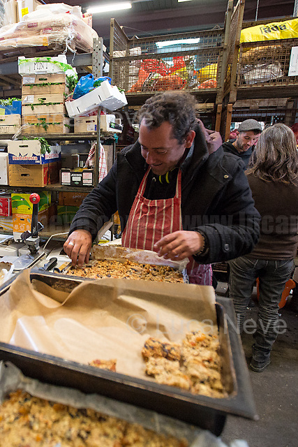 """Nigel.<br /> <br /> Main Warehouse """"L'Auberge"""" where donations - including food - are managed and then distributed to the camps. <br /> <br /> Under the Sky of Calais & Dunkirk. Two Camps, Two Sides of the Same Coin: Not 'migrants', Not 'refugees', just Humans.<br /> <br /> France, 24-30/03/2016. Documenting (and following) Zekra and her experience in the two French camps at the gate of the United Kingdom: Calais' """"Jungle"""" and Dunkirk's """"Grande-Synthe"""". Zekra lives in London but she is originally from Basra in Iraq. Zekra and her family had to flee Kuwait - where they moved for working reason - due to the """"Gulf War"""", and to the Western Countries' will to """"export Democracy in Iraq"""". Zekra is a self-motivated volunteer and founder of """"Happy Ravers"""", a group of people (not a NGO or a charity) linked to each other because of their love for rave parties but also men and women who meet up every week to help homeless people and other people in need in Central London. (Here there are some of the stories I covered about Zekra and """"Happy Ravers"""": http://bit.ly/1XVj1Cg & http://bit.ly/24kcGQz & http://bit.ly/1TY0dPO). Zekra worked as an English teacher in the adult school at Dunkirk's """"Grande-Synthe"""" camp and as a cultural mediator and Arabic translator for two medic teams in Calais' """"Jungle"""". Please read her story at the beginning of this reportage."""