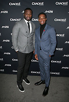CULVER CITY, CA - MARCH 7: Curtis &quot;50 Cent&quot; Jackson, Arlen Escarpeta, pictured at Crackle's The Oath Premiere at Sony Pictures Studios in Culver City, California on March 7, 2018. <br /> CAP/MPIFS<br /> &copy;MPIFS/Capital Pictures