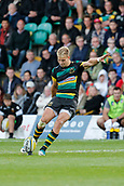 9th September 2017, Franklins Gardens, Northampton, England; Aviva Premiership Rugby, Northampton Saints versus Leicester Tigers; Harry Mallinder of Northampton Saints kicks a penalty
